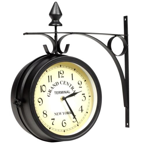Кованое железо настенные часы ручной работы, двусторонняя