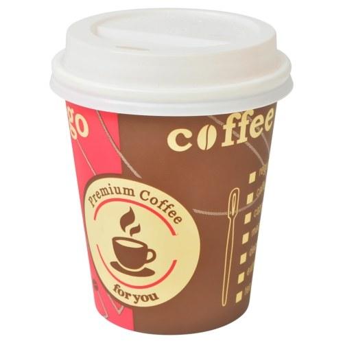 Einwegkaffeetassen mit Deckel 1000 Stück 8 oz