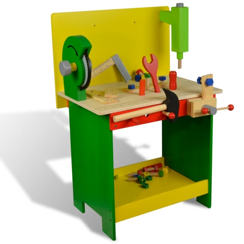 Kids / Children Wooden Workbench with Tools 33 pcs