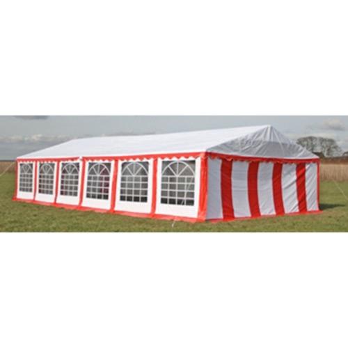 Ersatzdach Dachplane Seitenteile Festzelt Party Zelt 12 x 6m Rot&Weiß