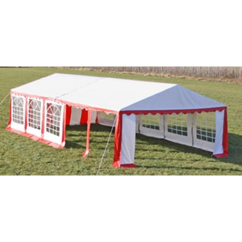 Party Tent Top and Side Panels 10 x 5 m Red & White