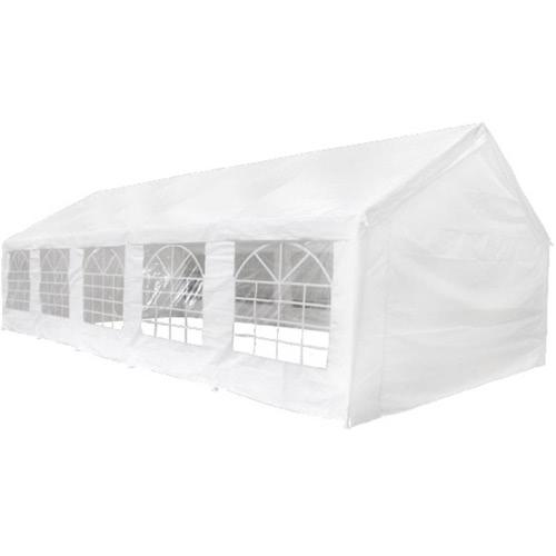 Ersatzdach Dachplane Zeltdach Seitenteile Pavillon 10 x 5 m Weiß