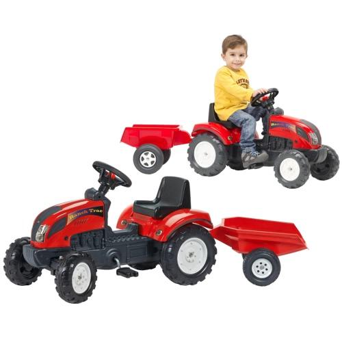 FALK Traktor mit Anhänger Rot 2/5