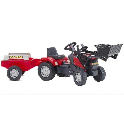 FALK Traktor mit Anhänger und Schaufel Rot 2/5