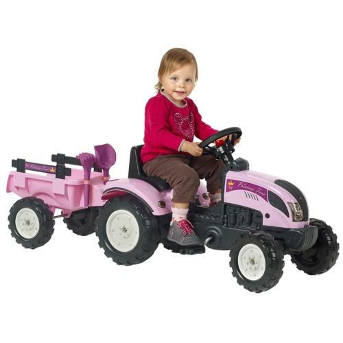 FALK Traktor mit Anhänger Pink 2/5