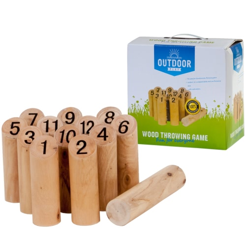 OUTDOOR PLAY Numbers Kubb (Mölkky) Wooden Outdoor Game