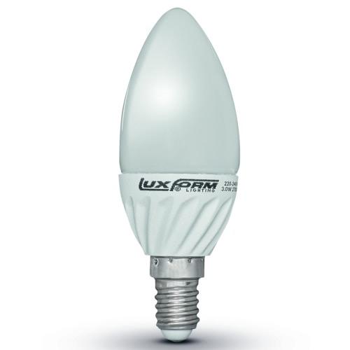 Luxform Set of 4 Candle Shaped LED Light Bulbs 5 W E14 230 V 2700 K