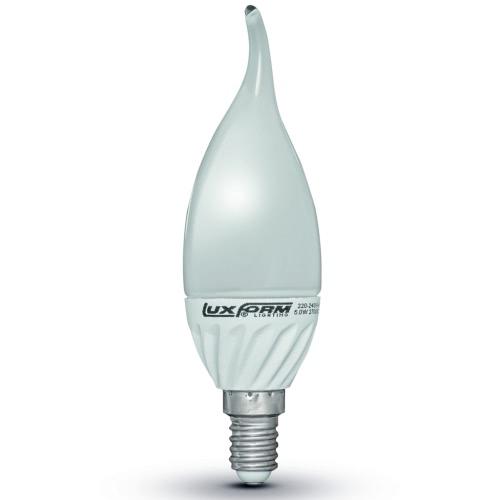 Luxform Set of 4 Flame Shaped LED Light Bulbs 3 W E14 230 V 2700 K