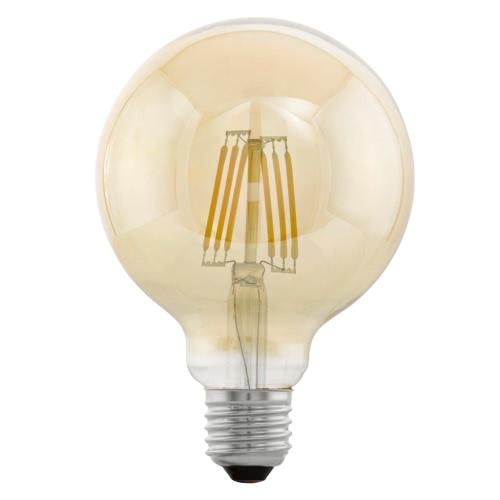 EGLO Vintage Style LED Light Bulb E27 G95 Amber 11522