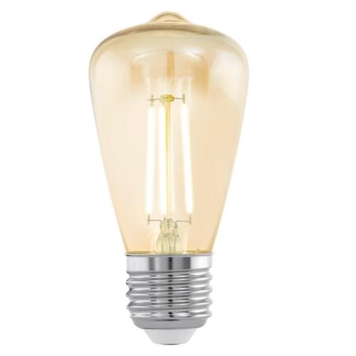 EGLO Vintage Style LED Light Bulb E27 ST48 Amber 11553