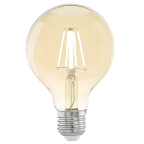 EGLO Vintage Style LED Light Bulb E27 G80 Amber 11556