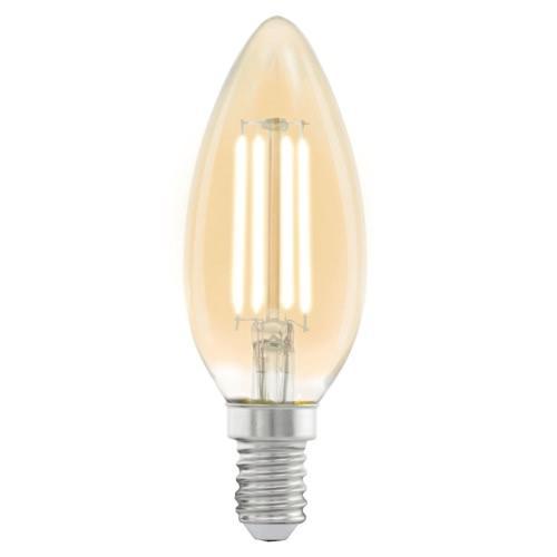 EGLO Vintage Style LED Light Bulb E14 C37 Amber 11557