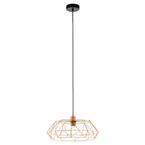 EGLO Pendant Lamp Carlton 2 Copper Colour 49488