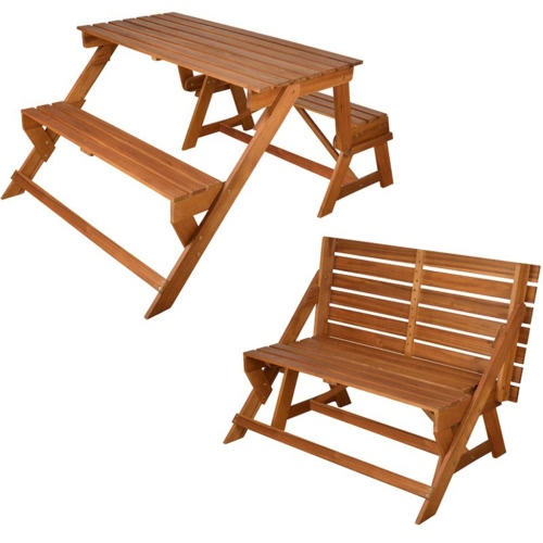 Esschert Design Convertible Bench / Picnic Table BL059