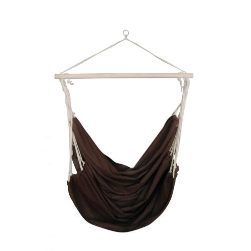 Hamac tissu brun de grande taille