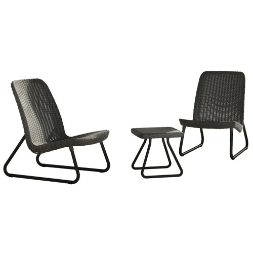 Keter Rio Patio Furniture Set Charcoal 17197637