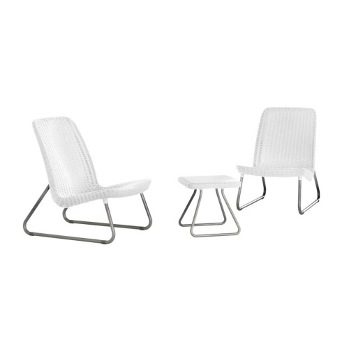 Keter Rio Patio Furniture Set White 17197637