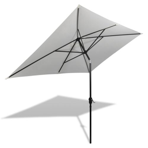Квадратный зонт 200 x 300 см Песчаный белый