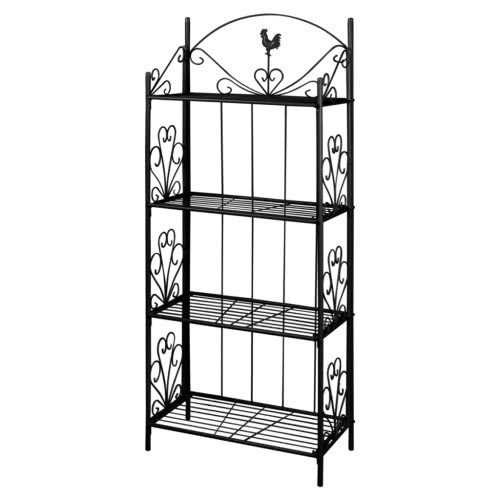 Plant Rack Square Black