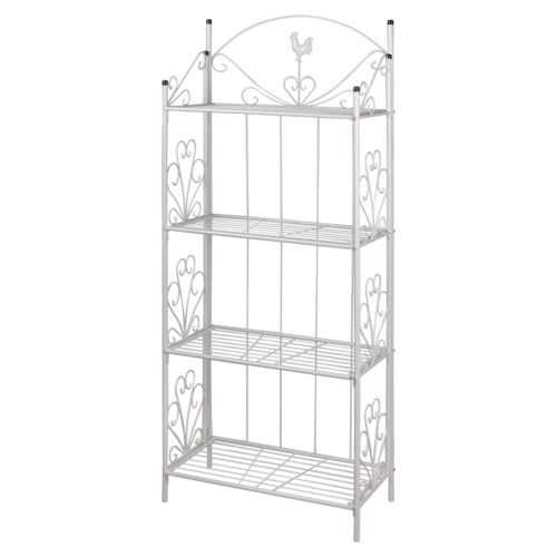Plant Rack Square White