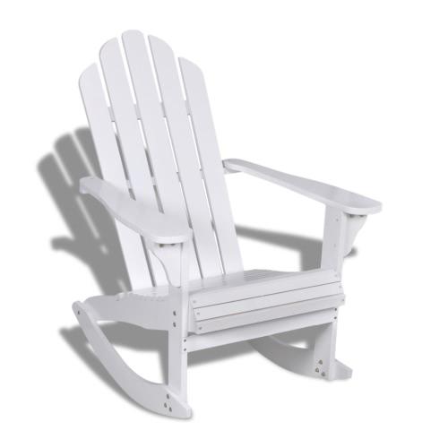 Sedia a dondolo relax sedia in legno sedia poltrona da giardino