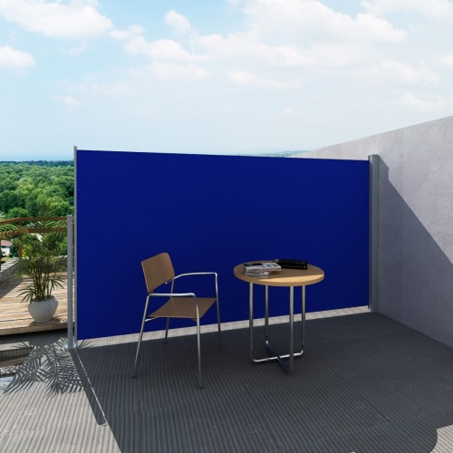 Terrasse Seitenmarkise Sichtschutz Markise 160 x 300 cm blau