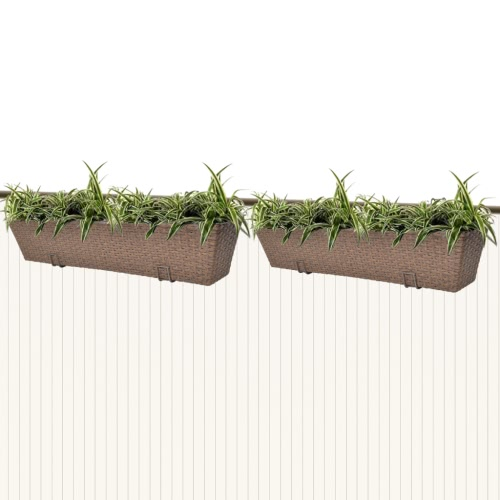 2 x Blumentopf Blumenkübel Übertopf Pflanzenkübel Braun 80 cm