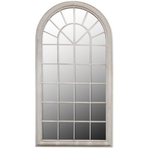 Rustikaler Gartenspiegel Bogen 116 x 60 cm für den Innen- und Außenbereich
