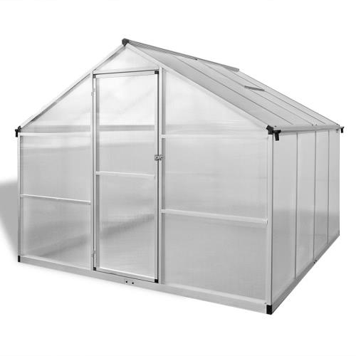À effet de serre en aluminium renforcé avec châssis de base de 6,05 m²