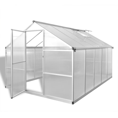 Reinforced Aluminium Greenhouse with Base Frame 7.55 m2