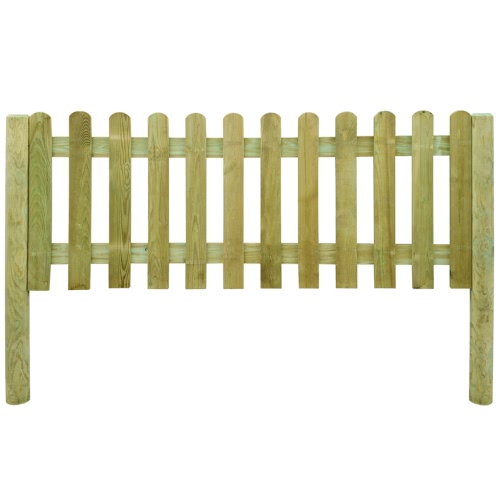 6 m Picket Fence with Posts 80 cm High Wood