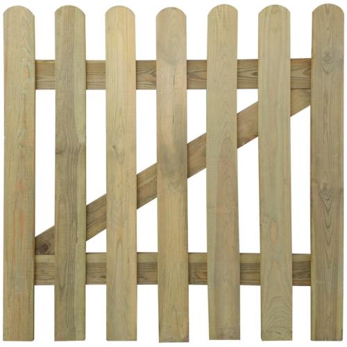 Holzgartentor mit Latten 100 x 100 cm