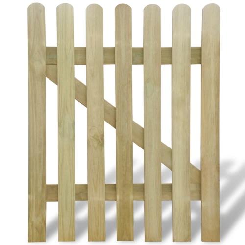 Holzgartentor mit Latten 100 x 120 cm