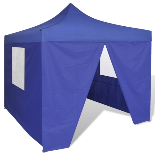 Blue Foldable Tent 3 x 3 m with 4 Walls
