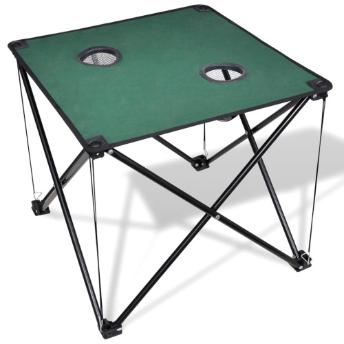 Table pliante de camping vert foncé