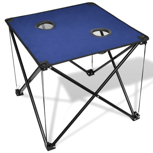Table pliante de camping bleu