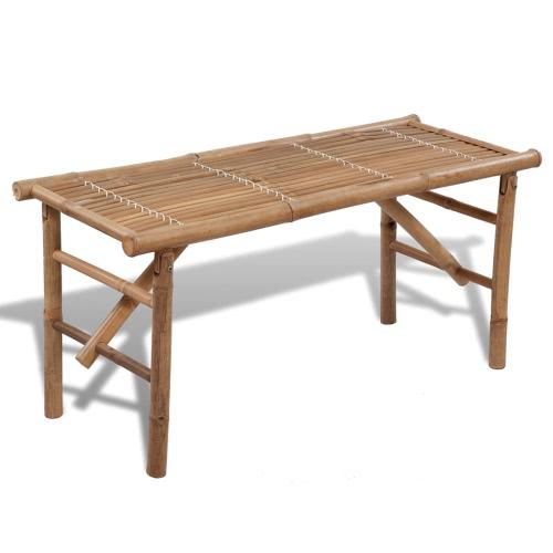 plegable de bambú banco