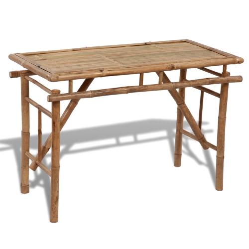 table de pique-nique en bambou pliable