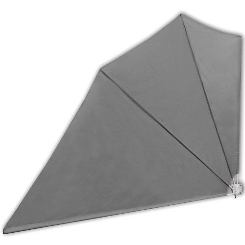 Patio Terrace Windscreen Collapsible 160 x 240 cm Grey