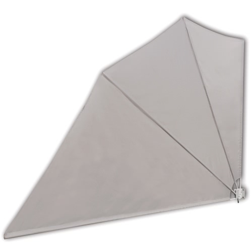 Patio Terrace Windscreen Collapsible 160 x 240 cm Cream