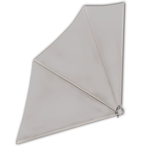 Patio Terrace Windscreen Collapsible 140 x 140 cm Cream