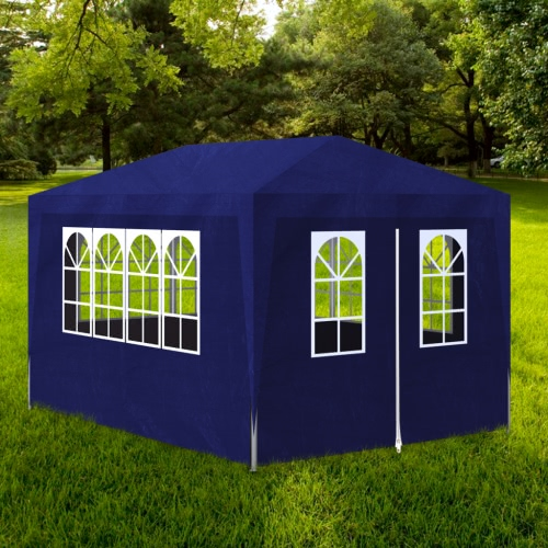 Blue Party Tent with 4 Walls 3 x 4 m