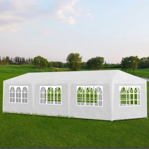 White Party Tent with 8 Walls 3 x 9 m