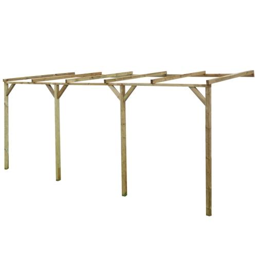 entrebâillée en bois Pergola 2 x 5 x 2,2 m