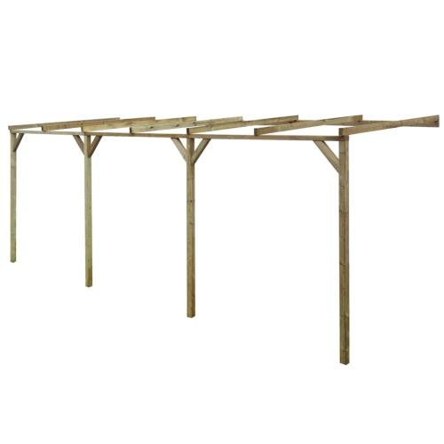 entrebâillée en bois Pergola 2 x 6 x 2,2 m