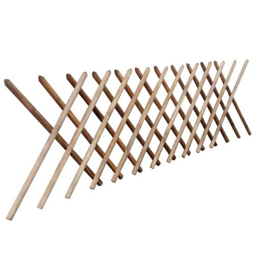 Jägerzaun clôture prolongée de bois imprégné 250 x 100 cm