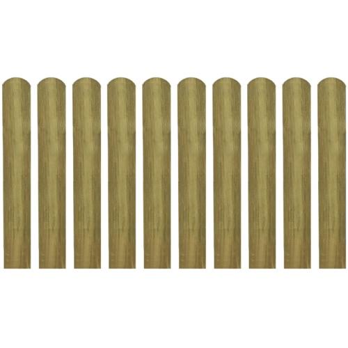 Latte impregnated wooden fence 10 pcs 60 cm