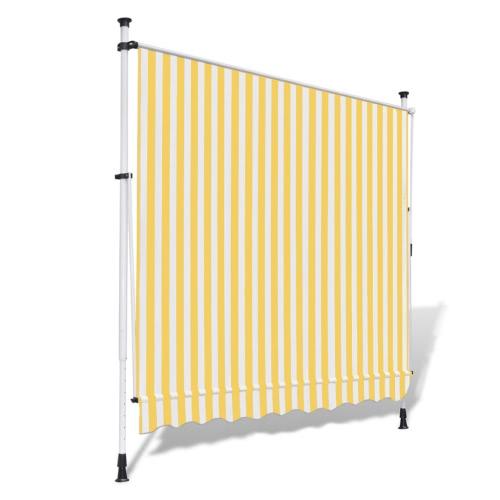 Tenda da incasso manuale giallo e bianco 350 cm