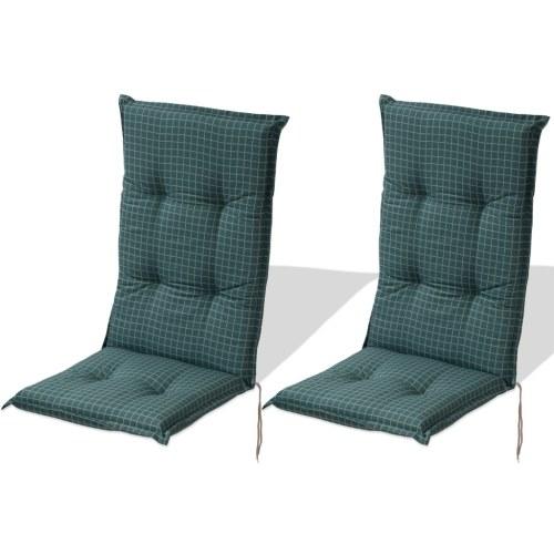 sedia da giardino cuscino del sedile 2 pezzi 117x49 cm Blu