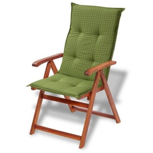 sedia da giardino  cuscino di seduta 2 pezzi 117x49 cm Verde